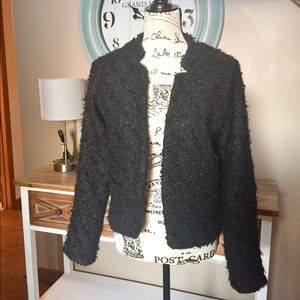 NWT Sanctuary black tinsel jacket